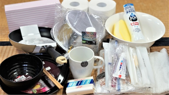 トイレットペーパー、食器、洗剤などの生活日用品